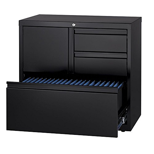 Dimensions Three Drawer Combo Storage Unit - 30''W Dimensions: 30''W x 18.63''D x 28''H Weight: 158 lbs Black by Office Dimensions