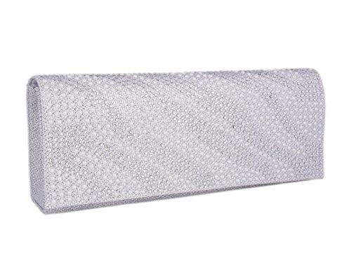 vrouw wit eenvoudige voor met koppeling Adoptfade zilver diamantete stijl xpCwFnq4B