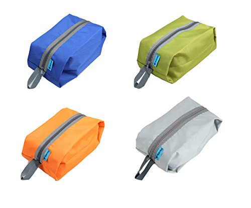 Tumecos Large Waterproof Portable Travel Organizer Toiletry Shoe Bag Pouch 4 pcs