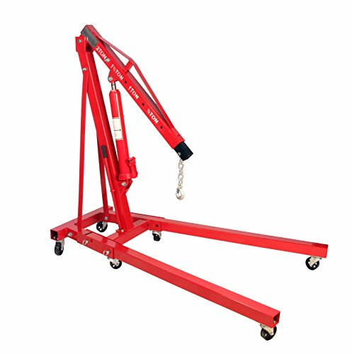 Dragway Tools 2 Ton Folding Hydraulic Engine Hoist Cherry Picker Shop Crane Hoist ()