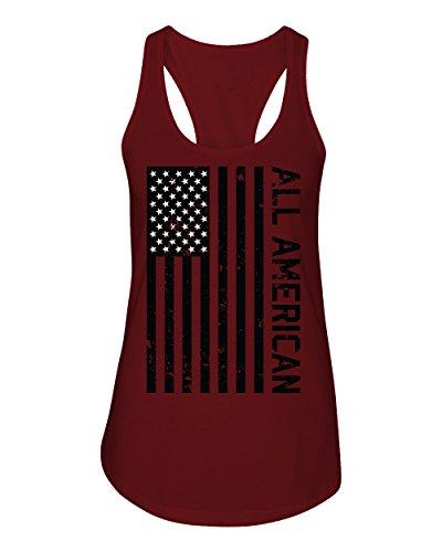 (Bang Bang Apparel Women's 'All American Racerback Tank Top (Small, Scarlet))
