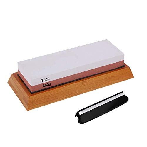 3000/8000メッシュホワイトコランダム赤と白の両面砥石砥石キッチン砥石ベースナイフクリップセット