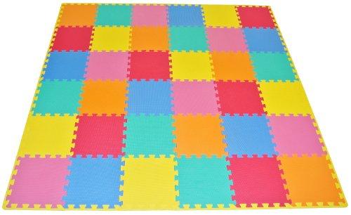 ProSource Puzzle Floor Colors Borders