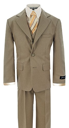 (Johnnie Lene Little Boy's Formal Dress Suit JL5016 (5, Natural)