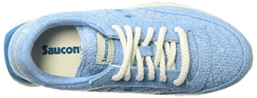 Femme Jazz Sneakers Original Saucony Daim Light en Blu Blue Baskets Beige Chaussures AYt7fT