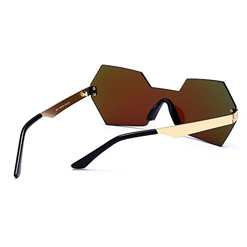 Gu Que de para Forma Aire de Color de UV conducen Sola Color una de de Gafas Mujeres Libre Personalidad viaja al Lente Irregular Que de Protección Peggy Pieza C4 C6 la Sol dTwRpd