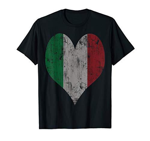 Italian Flag Heart Italy T-shirt