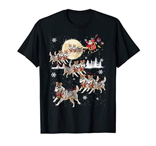 Siberian Husky dog Merry Christmas shirt