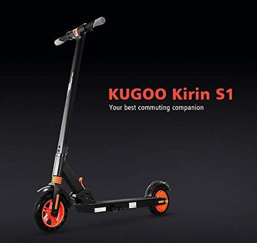 HOMMINI KUGOO Kirin S1 Trottinette Electrique pour Adulte, Scooter électrique avec Conception améliorée avec App Control, Vitesse Jusqu'à 25km/h, Système de Freinage Double