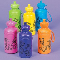 Neon Monkey Water Bottle (1 dozen) - Bulk [Toy] (Sports Water Bottle Dozen compare prices)