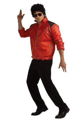 Michael Jackson Deluxe Zipper Jacket, Red, Large Costume - Michael Jackson Red Jacket Halloween Costume