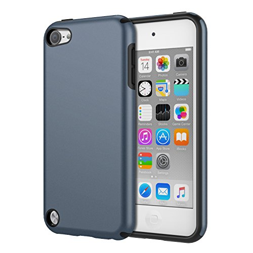 iPod Touch 6 Case, iPod Touch 5 Case, MoKo 2 in 1 Shock Absorbing TPU Bumper Ultra Slim Protective Case with Hard Back Cover for Apple iPod Touch 6th / 5th Generation, Sapphire Blue