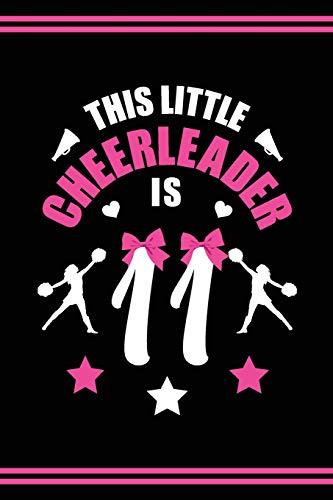Cheerleader Book Girls Cheerleading Journal: Blank Lined Notebook + Goals and Wish List | 11th Birthday Little Girl Cheerleader Book | Black Pink Cover with Cheerleader Bow por SilentSoulArts Design