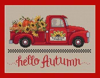 (Hello Autumn Cross Stitch Chart and Free Autumn Embellishment)