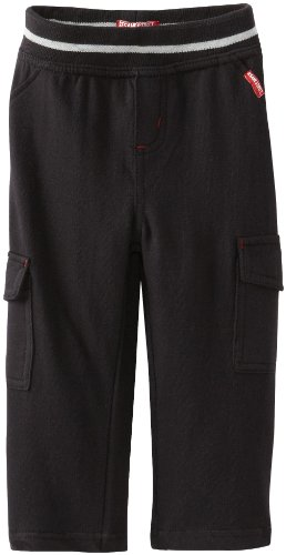 Watch Me Grow! by Sesame Street Baby-Boys Infant 1 Piece Cargo Pocket Pant, Black, 12 Months