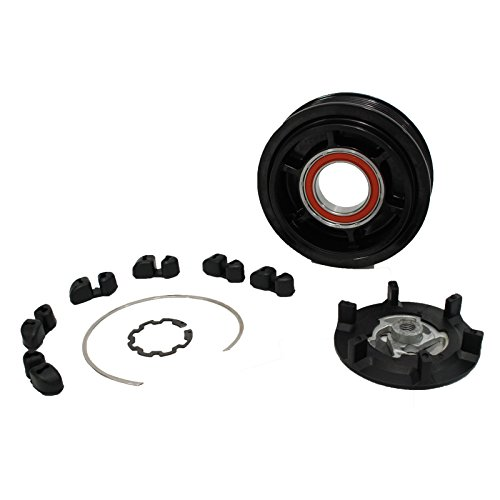 HexAutoparts A/C AC Compressor Clutch Repair Kit for Mercedes Benz 7SEU17C with 6 Groove Pulley