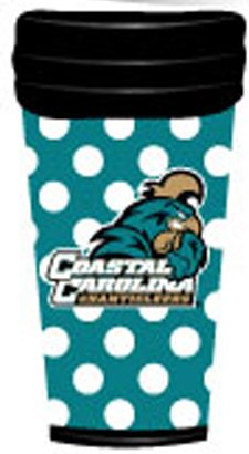 NCAA Coastal Carolina Chanticleers Coffee Tumbler Dots
