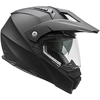 Vega Helmets Cross Tour 2 Dual Sport Helmet with Internal Sun Visor – Full Face Motorcycle Helmet for Motocross ATV MX Enduro Quad, 5 Year Warranty (Matte ...