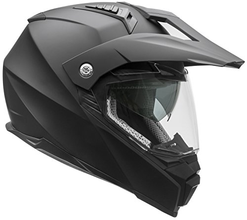 Vega Helmets Cross Tour 2 Dual Sport Helmet with Internal Sun Visor – Full Face Motorcycle Helmet for Motocross ATV MX Enduro Quad, 5 Year Warranty (Matte Black, (Road Vented Full Face Helmets)