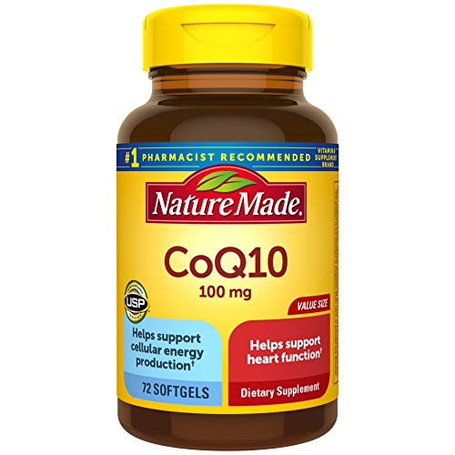 Image of Nature Made CoQ10 100 mg Softgels, 72 Count Value Size for Heart