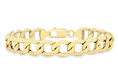 9ct or jaune creux Bracelet homme 20cm/8'