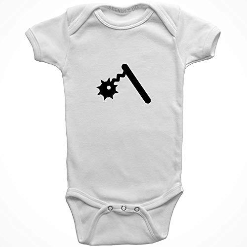 Stickerslug Flail Onesie Baby Clothes Jumper (White, Newborn) b21693