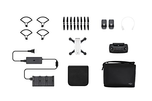 DJI Spark Portable Mini Drone Alpine White (Certified Refurbished) (Fly More Combo)