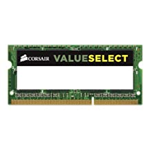 Corsair 4GB (1x4GB) 1600MHz PC3-12800 204-Pin DDR3 SODIMM Laptop Memory (CMSO4GX3M1C1600C11)