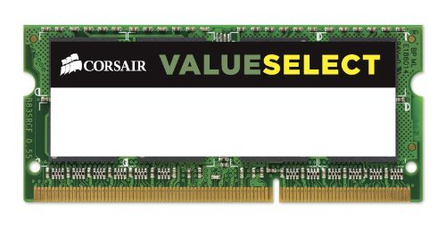 9 opinioni per Corsair CMSO4GX3M1C1600C11 Value Select Memoria da 4 GB (1x4 GB), DDR3, 1600