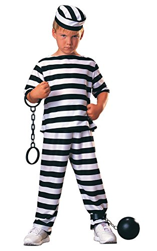Jail Costumes For Halloween (Haunted House Child Prisoner Costume, Small)
