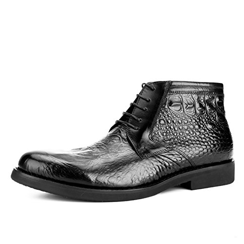 Mens Leder Freizeit Sehnen Schuhe Dress Herbst Business Mode Rutschen Schwarzbraun Schwarz