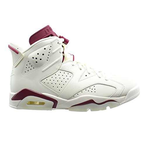 Jordan Air 6 Retro Men's Basketball Shoes Off White/New Maroon 384664-116 (11 D(M) US) (Authentic Jordan 11 Space Jam For Sale)