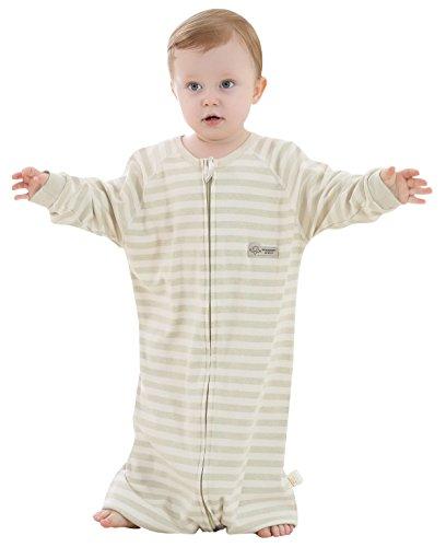 O.C.E Baby Sleepbag 100% Cotton Straddle Wearable Blanket Long Sleeves Zipper