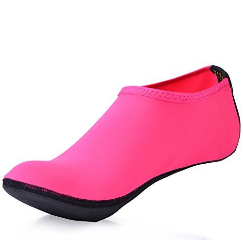 SITAILE Water Shoes, Mens Frauen Quick Dry Wasser Schwimmen Schuhe Aqua Socken für Beach Swim Surfen Yoga Übung Pure Rose Rot
