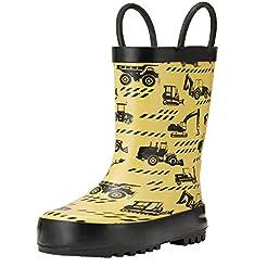 ADAMUMU Rain Boots Toddler Children's Wa...