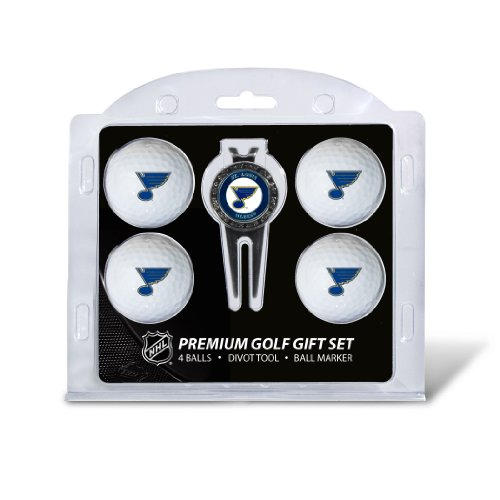 NHL St Louis Blues 4 Golf Ball And Divot Tool Set