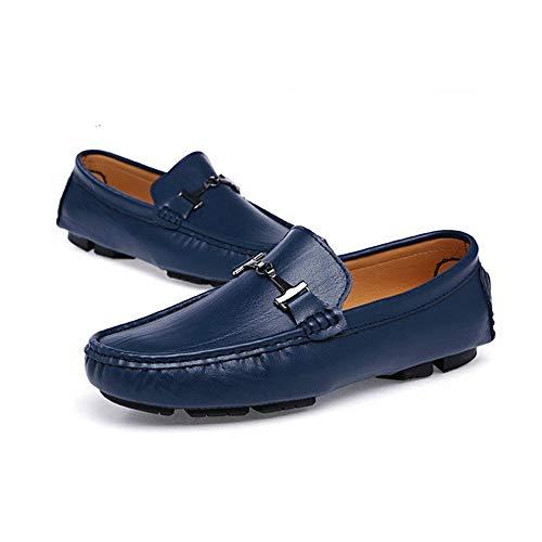 Diseño tamaño Mocasín cómodos Cuero Zapatos Suave y Genuino 24 Hombre Zapatos Pisos marrón Azul Gommino de Zgsjbmh liviano 29 de Mocasín Negro Azul Bajos Negocios de 0cm 0cm único para Gommino dfqHRW