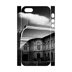 3D Cute For HTC One M7 Phone Case Cover Victorian Architecture for Teen Girls Protective, For HTC One M7 Phone Case Cover Teen Girls Protective [White]