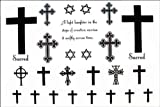 GGSELL 2012 latest new design new release Temporary tattoos waterproof cross hexagram fake tattoo by YiMei