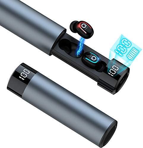 【 Bluetooth イヤホン LEDディスプレイ 】最新Bluetoothイヤホン5.0+EDRチップ IPX7完全防水 ブルートゥースイヤホン ワイヤレスイヤホン HiFi高音質 自動ペアリング 120待受時間 1500mAh引き抜き充電ケース付き 左右分離型 Siri対応 片耳&両耳とも対応 (HBQ-Q67TWS)