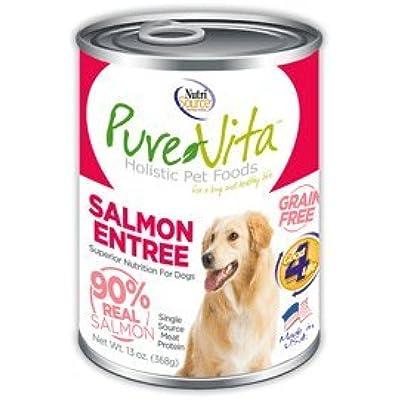 Pure Vita Grain Free Salmon Canned Dog Food 12/13oz