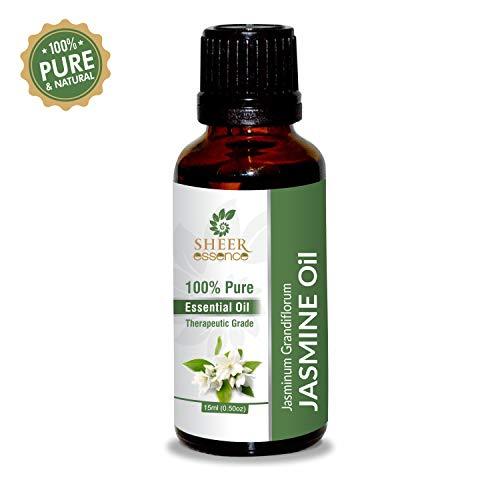 (Jasmine Oil -(Jasminum Grandiflorum)- Essential Oil 100% Pure Natural Undiluted Uncut Therapeutic Grade Oil 0.51 Fl.OZ)