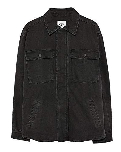 Zara Men Printed Denim Jacket 5520/490 (Medium) - Printed Denim Jacket