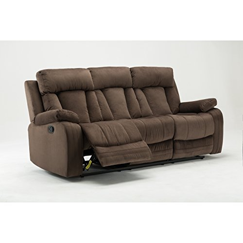 Blackjack Furniture The Elton Collection Modern Reclining Living Room Sofa, Gray