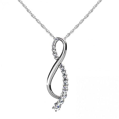 Diamond Journey Ribbon - 1.15 ct.Round Diamond Journey Ribbon Pendant