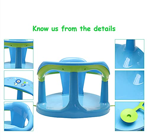 Baby Bath Seat,Baby Bath Chair, Newborn Shower Seat Bathtub Seat Cushion Children's Wrap-Around Shower Chair (6-18 Months)(White)