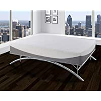 Boyd Sleep Arched Platform Bed Frame/Metal Mattress Foundation, Silver, Twin