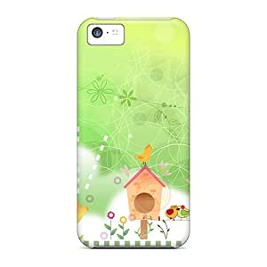 Iphone 5c Hard Back With Bumper Cases Covers Summer Bird Houses