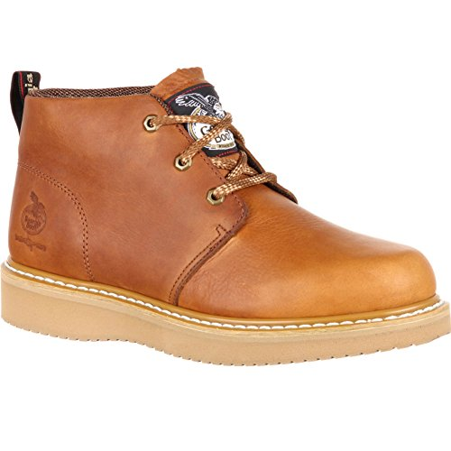 Georgia Men's Wedge Chukka Composite Toe Work Boots, Brown, SPR Leather, 8.5 (Brown Spr Leather)