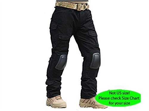 H World Shopping Emerson Military Tactical G2 Airsoft Pants with Detachable Knee Pads Black (Emerson Army compare prices)
